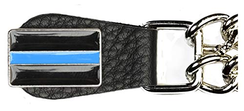 Thin blue line vest extender on chrome chain Made in USA (4)