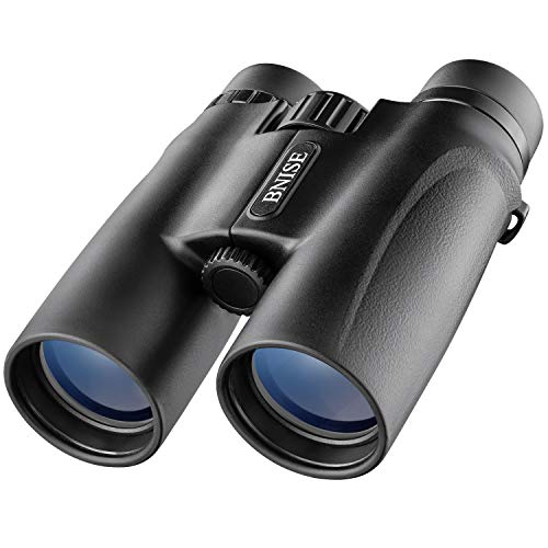 10X42 Binoculars Compact for Adult High Power HD Professional BAK4 Roof Prism Long Range Lightweight Portable for Bird Watching, Hunting, Travelling, ()