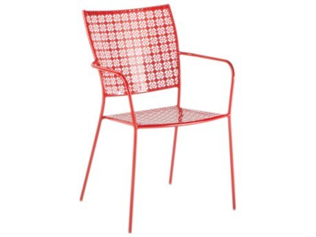Alfresco Home Martini Stackable Bistro Chair, Cherry Pie, Set of 2 Alfresco Home Bar Set