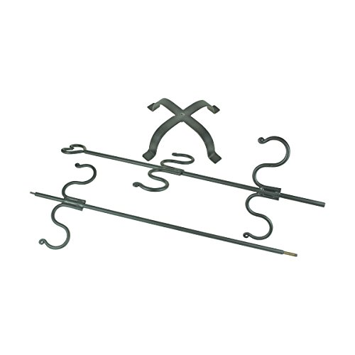 Christmas Stocking Holder Free Standing Wrought Iron 6 Hanger Hooks with Heart Tip Top Rust Resistant Easy Assembly by Renovator's Supply (Image #4)