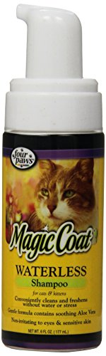 - Four Paws Magic Coat Waterless Cat Grooming Shampoo, 6oz