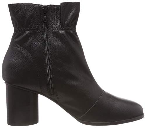 Black Black Donna 100 Stivali Leather Nero Boot BIANCO 6xpqTp