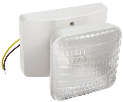 Morris Products 73060 Remote Emergency Light Head, 1 Square, Incandescent, 5.4 Watts, 6 Volts