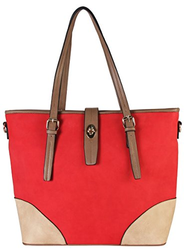 Turn Lock Tote Bag - 6