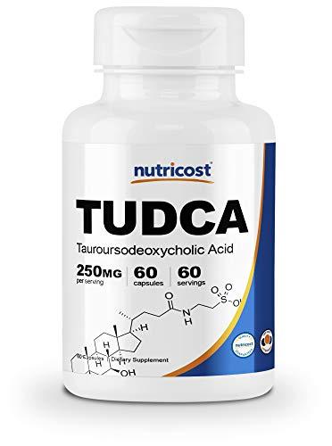 : Nutricost Tudca 250mg, 60 Capsules (Tauroursodeoxycholic Acid) - Premium Quality