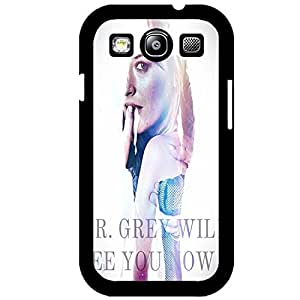 Smart Fifty Shades of Grey Phone Case Cover For Samsung Galaxy S3 I9300 The Back Of Grey Crystal Design