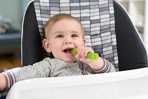 41a6c54ZoXL - Olababy 100% Silicone Soft-Tip Training Spoon For Baby Led Weaning 2pack