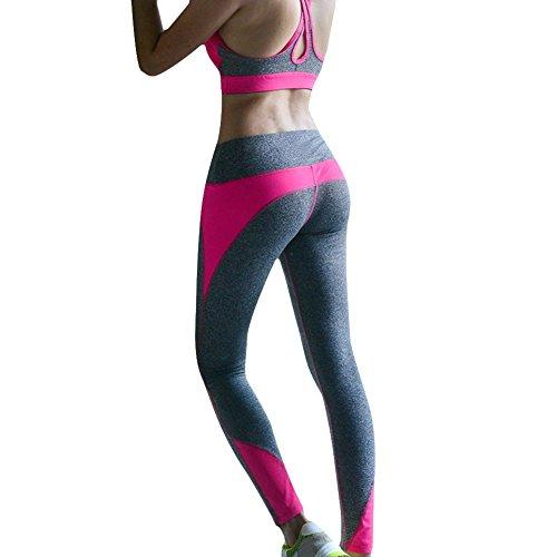 Damen Sport Yoga Leggings Hose (M, Hotpink)