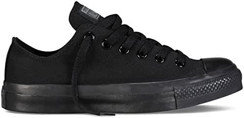 Converse Unisex Chuck Taylor All Star Low Top Black Monochrome Sneakers - 6 D(M)