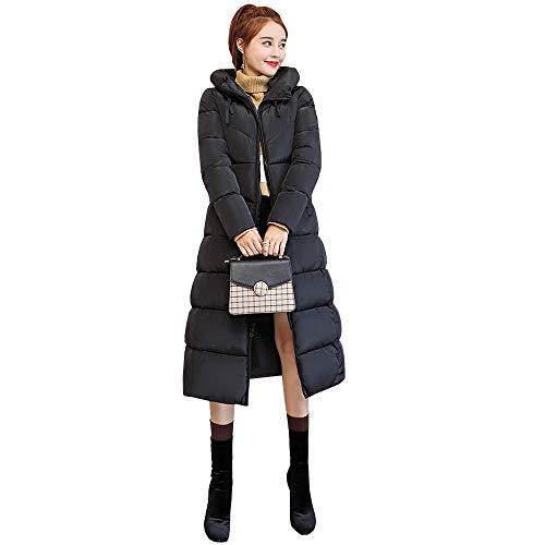 Spessore Elegante Giacca Inverno Slim Dazisen Cappotti Moda Trapuntato Caldo Nero Cappotto Incappucciato Piumino Fit Donna wSCcvqY1x