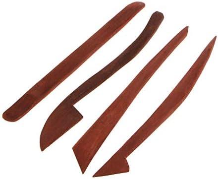 粘土彫刻ツール 粘土道具 木製 陶器 粘土 彫刻 モデリング 粘土細工 陶芸 工芸 陶芸ツール 5本セット