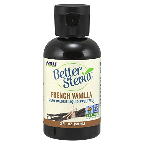 NOW Foods French Vanilla Liquid Stevia, 2 Ounces (Pack of 5)