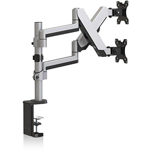 V7 DM1DTAS-1N -1E Dual Stack Touch Adjust Monitor Mount (VESA 75x75, 100x100, up to 8 kg per Display)