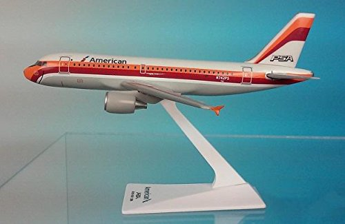 (Flight Miniatures American/PSA A319-100 Airplane Miniature Model Plastic Snap Fit 1:200 Part# AAB-31900H-009)