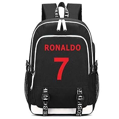 gran selección de 023d5 eca23 SJYMKYC Ronaldo Mochila Cr7 Juventus Bolsas Escolares ...