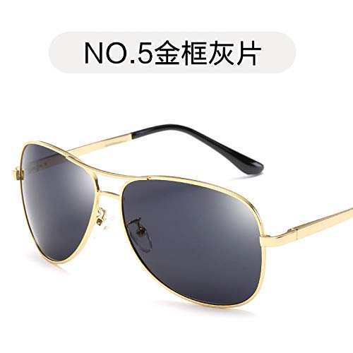 Tendencia Hombres Marco Gafas Pierna Sol piece de de Sol Gold de polarizadas Burenqiq de gray Gafas Rana Gris Aviador de Gafas la Pieza Sol frame Moda Espejo Oro de zB8qnXq6w