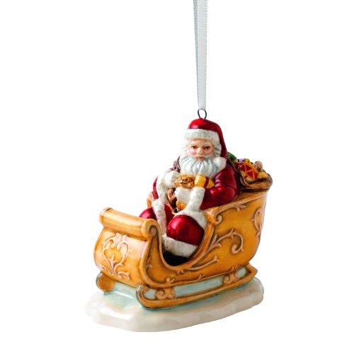 Royal Doulton Porcelain Figurine - Royal Doulton Santa in Sleigh Ornament