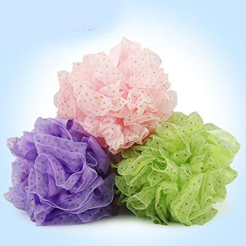 Soft Bath Shower Sponge Exfoliating Puff Body Scrubber Massage Mesh Scrub Ball (Model - Puff #3 (Random Color))