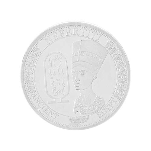 Non-currency Coins - Egypt Cleopatra Gold Plated Egyptian Queen Nefertiti Commemorative Coin Bitcoin Collectible Souvenir - Robe Egypt Coin Pendant Camp Cleopatra Costum Hike Bit Coins Decor Coin]()