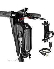 Grinada® Elektrische scootertas met USB-stroom, 2 l, 3 l, accessoires voor scooter, rugzak, riemtas, compatibel met elektrische scooter Xiaomi Ninebot Ducati Kickscooter Front Bag