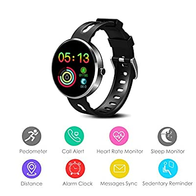 Avatar Controls Fitness Tracker, Activity Tracker IP68 Waterproof Fitness Wristband with Heart Rate Monitor, Sleep Step Track Pedometer, Menstrual Cycle Monitoring for Women Men Kids