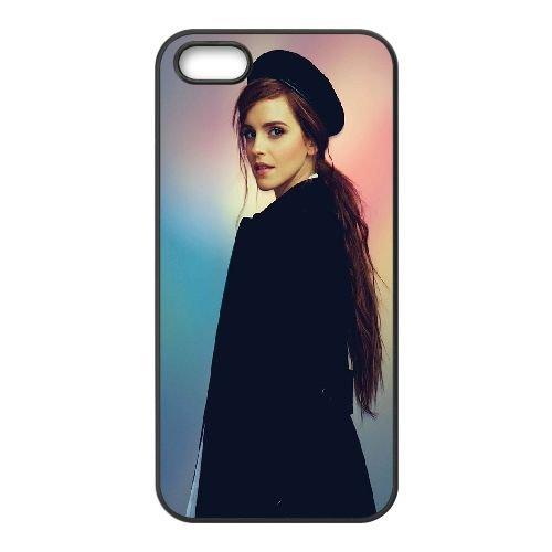 Emma Watson Colorful Background coque iPhone 5 5S cellulaire cas coque de téléphone cas téléphone cellulaire noir couvercle EOKXLLNCD23525