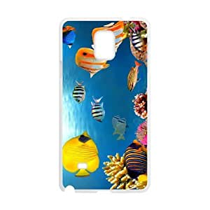 Samsung galaxy note 4 N9100 Fish Phone Back Case Personalized Art Print Design Hard Shell Protection YT045635