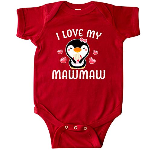 inktastic - I Love My Mawmaw with Cute Penguin Infant Creeper 6 Months Red 342ce