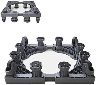 Pedestal para Secadora MóVil Soporte TelescóPico para Muebles con 4 Ruedas Estable Base De Pedestal para Lavadora 43.5-59cm Rodillo Lavavajillas Carro 360°GiracióN -350kg