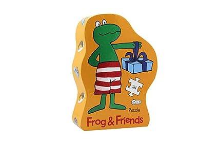 Frog and Friends Puzzle Silueta Fiesta de cumpleaños Barbo ...