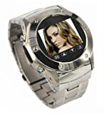 VIP Quad Band Stainless Steel FM Radio Watch Cell Phone Silver Picture