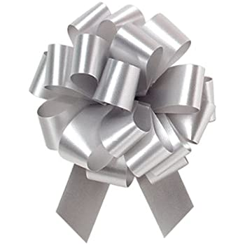 Home & Kitchen 20 Metallic Silver Pull Bows Home Accessories