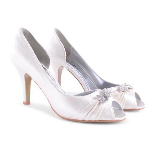 abierta blanco Footwear de mujer sintético Ivory punta Sensation 6qqwYE