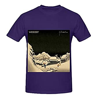 Weezer pinkerton rock men o neck custom shirts for Amazon custom t shirts