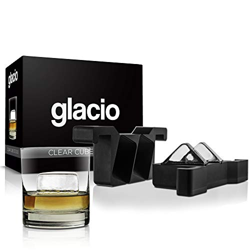 glacio Clear Cube Ice Duo | Crystal Clear Ice Square | Clear Ice Cube for Whiskey