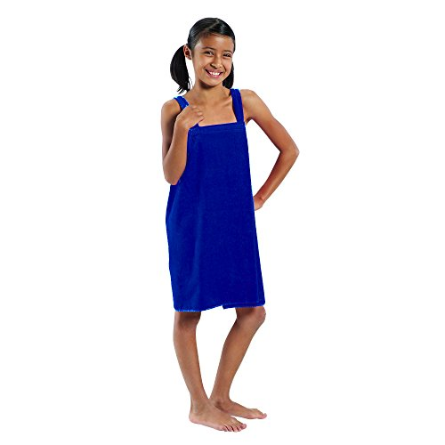 Bath Wrap Adult (Party Robes for Girls Terry, Navy - Medium,)