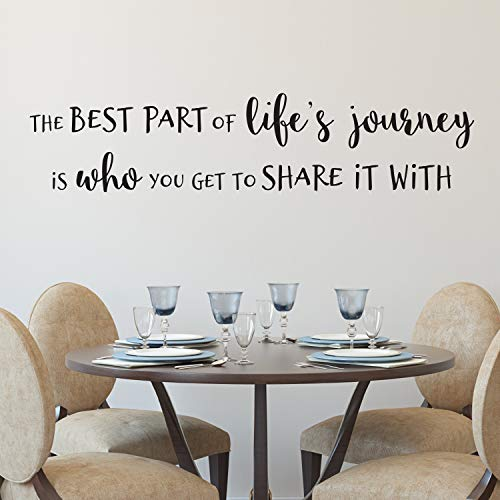 Moira The Best Part of Lifes Journey is who You get to Share it with Vinyl Wall Decal Family Photo Wall Living Room Kitchen Office HH2260 Decal Sticker
