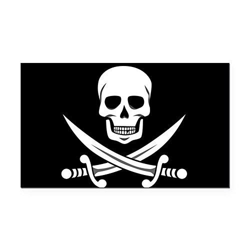 - CafePress - Skull and Swords Jolly Roger Rectangle Car Magnet - Rectangle Car Magnet, Magnetic Bumper Sticker