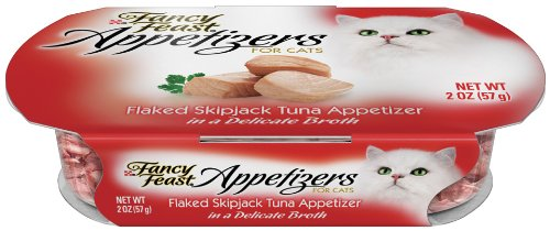 Fancy Feast Appetizers for Cats, Flaked Skipjack Tuna, 2-Ounce (Pack of 10)