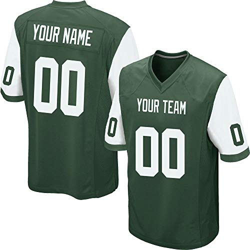Custom Men's Green Mesh Football Game Jersey Stitched Team Name and Your Numbers,White-Green Size M