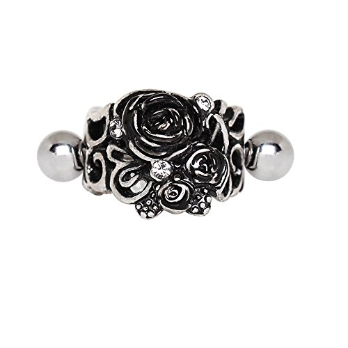 Cartilage Cuff - Pierced Owl Vintage Roses Cartilage Cuff Earring in 316L Stainless Steel