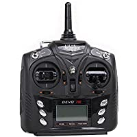 Walkera 7E 7CH Transmitter Mode 2 without Receiver for Fuibee Wasp mini Drone - BLACK