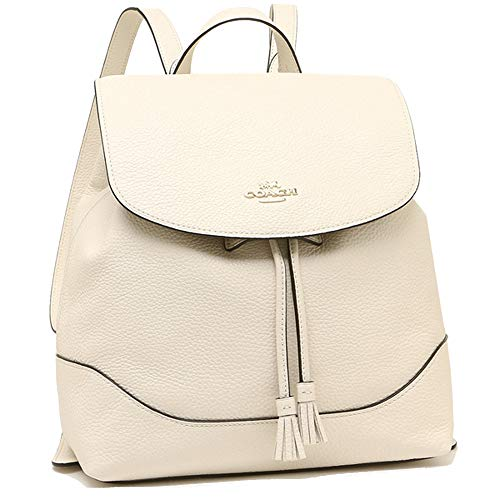 Coach Leather Elle Backpack Tote - #F72645 - Chalk/Gold