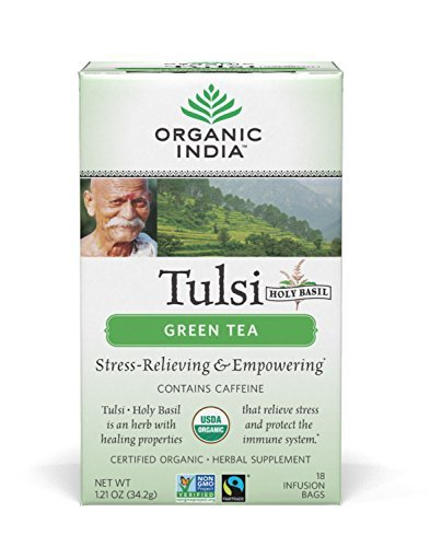 (ORGANIC INDIA Tulsi Green Tea, 18 Tea Bags (1 Pack))