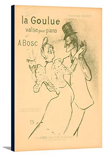 La Goulue, valse pour piano Vintage Poster (artist: Henri De Toulouse Lautrec) France c. 1895 (24x36 Gallery Wrapped Stretched Canvas) ()