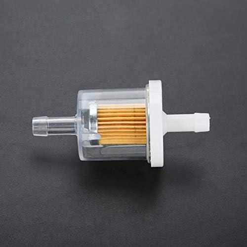 Aramox Auto Kraftstofffilter Benzinfilter1 4 Kunststoff Universal Benzin Inline Filtrationsgeschwindigkeit Schneller Kraftstofffilter Fit Für Rasenmäher Und Motorrad Kleine Motoren 10 Stück Küche Haushalt