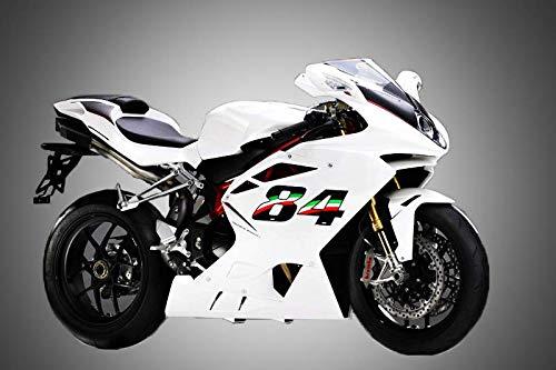 quattroerre 13169/N/úmero Racing Flag 9 10/x 7,5/cm