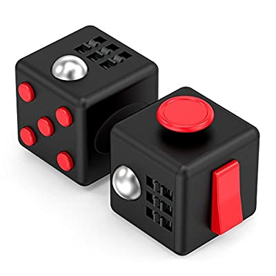 PAPAIT Cube Anti-Stress/Anti-anxiety and Depression Ball Prime Quality Toy for Children Teen Student Adult [Easy Carrying] Finger Dice Stress Reliever for Work School