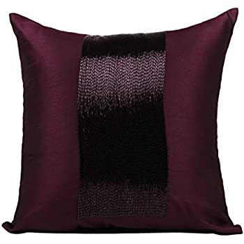 Amazon Plum Throw Pillows Cover For Couch Beaded Sparkly Magnificent Plum Decorative Pillows