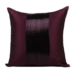 Amazon Com The White Petals Plum Decorative Pillow Cover
